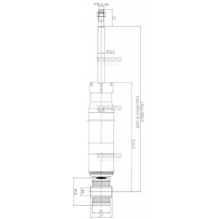 JD  JAA0248 Амортизатор задний Jetta